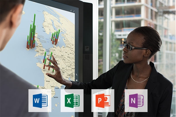 Apps & Microsoft Office auf dem Surface Hub